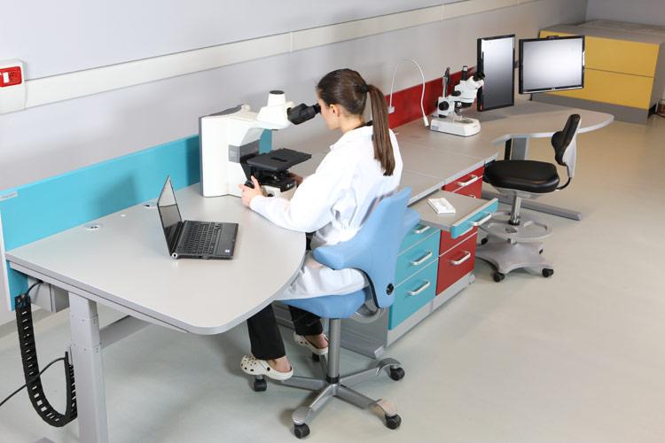 Tavolo da laboratorio per microscopia postazione ergonomica mew